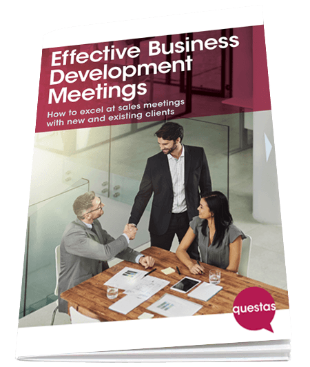 Questas Effective Business Development Meetings booklet cover